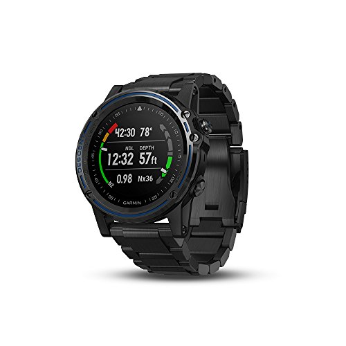 Garmin Descent Mk1, Watch-Sized Dive Computer with Surface GPS, Includes Fitness Features, Gray Sapphire with DLC Titanium Band