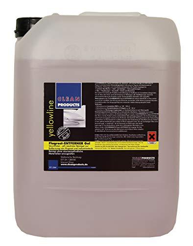 CLEANPRODUCTS Flugrostentferner 10L - Säurefrei & pH-neutral - Für Auto, LKW, Bus, Anhänger, Rostflecken, Beton, Granit, Werkzeug, Metall Legierungen