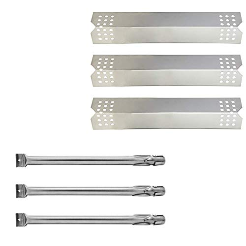 S9081A(3-Pack) S108A (3-Pack) Repair kit Replacement for Kitchen Aid 720-0819 2 Burner Gas Grill, Kitchen Aid 720-0787D 3 Burner Gas Grill,l, Stainless Steel 16.5 inch Grill Burners Tube, Heat Plate