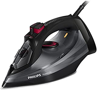 Philips PowerLife:2400W - Steamglide - CoS 40g/min - SoS 170g - Drip Stop - ASO- Calc clean- extra stable heel rest-Black-...