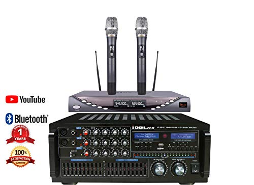 Lowest Price! IDOLpro IP-388 II 1400W Recording/Bluetooth/HDMI/10 Band LED Equalizer Professional Mi...
