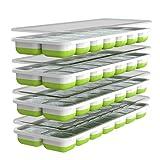 Oliver's Kitchen - Juego de 4 x Moldes de Cubitos de Hielo - Base Flexible para una Extracción...