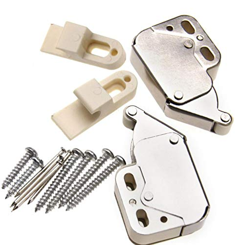 2 Stück Möbel-Schnäpper Schrank Federschnäpper Druckverschluß MINI LATCH Druckschnapper
