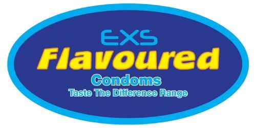 EXS Mixed Flavoured - 144 Kondome mit Geschmack, 4 verschiedene Sorten im Mix - Bubblegum, Cola, Chocolate, Strawberry