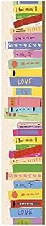 Plage Vinilos para Escaleras-Biblioteca Colorida, Multicolor, 19x3x100 cm, 3 Unidades