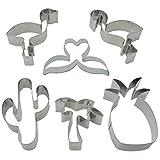 Ausstechformen Set, 6 Stück Ausstecher Plätzchenformen Flamingo, Ananas, Palme, Kaktus und...