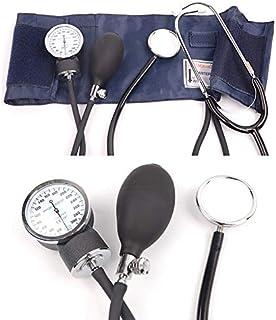 SISHUINIANHUA Equipo médico Cardiología médica Monitor de presión Arterial Medidor Tonómetro Brazalete Brazo Kit de Estetoscopio Esfigmomanómetro de Viaje