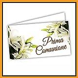 Bigliettini Bomboniera Prima Comunione - bigliettini fazzoletti per confetti e sacchetti confetti n. 60 pezzi pretagliati