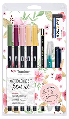 Tombow Set Watercoloring, 9, Floreale
