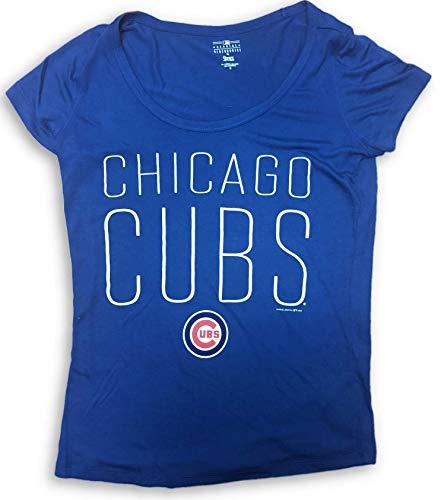Campus Lifestyle Chicago Cubs Women's Scoop Neck T-Shirt Blue XS 0/1
