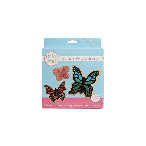 Cake Star Cutter & Texture Mat Set - Butterfly