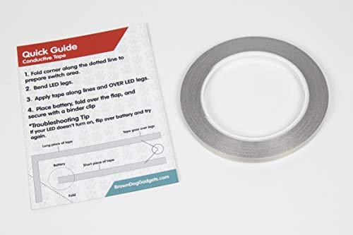 Brown Dog Gadgets - Maker Tape - 1/4th Inch x 65 Feet Pack of 5 Rolls (Item # P2030-5Pk)