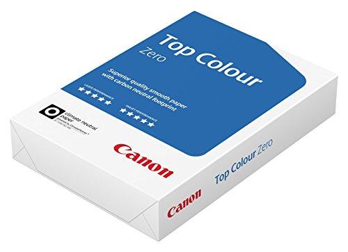 Canon Deutschland Top Colour Zero Farbkopierpapier, 1x 500 Blatt FSC zertifiziert, CO2-neutral, A4, 100 g/m², alle Drucker hochweiß CIE 164 (optimierte Schutzverpackung)