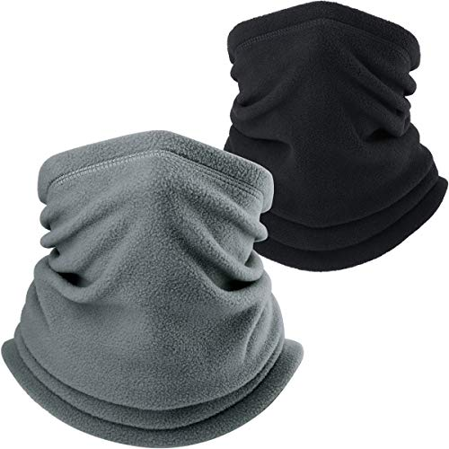 AXBXCX Neck Warmer Gaiter - Windproof Ski Mask - Cold Weather Face Motorcycle Mask Thermal Scarf Winter for Running Snowboarding Fishing Hunting Off-roading Black + Gray