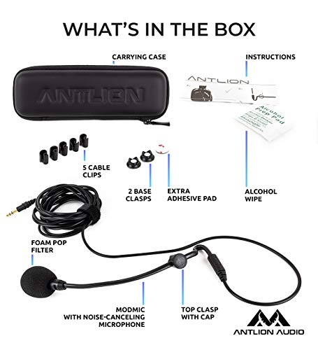 Antlion Audio ModMic Attachable Boom Microphone - Noise Cancelling Without Mute Switch