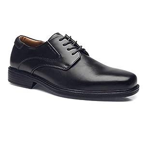 La Milano Men's Classic Modern Wide Width Plain Toe Oxford from