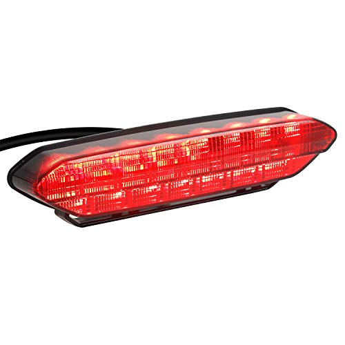 NTHREEAUTO Smoked LED Tail Light Motorcycle 12V Rear Brake Taillights Compatible with YAMAHA YFZ450 2006 2007 2008 2009
