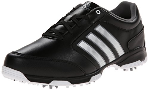 adidas Men's Pure 360 Lite  Golf Shoe, Core Black/Metallic Silver/Running White, 11.5 M US