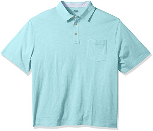 Izod Herren Big and Tall Saltwater Chest Pocket Slub Polo Poloshirt, Gulf Stream, X-Large Hoch