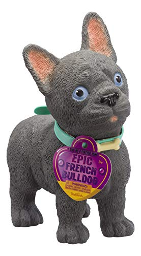 Toysmith Epic Puppies - French Bulldog Puppy Dog Realistic Pet Play Toy Figure for Kids (15 Inches Tall)