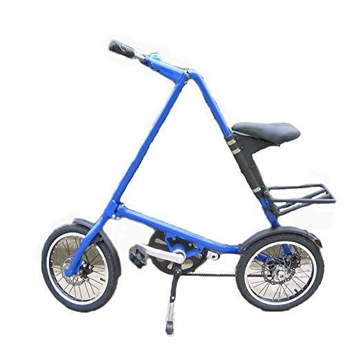 SIER Vélo Pliant Vélo Pliant en Aluminium 16 Pouces pour Hommes et Femmes léger en Alliage léger et Pliant vélo de Ville,Blue