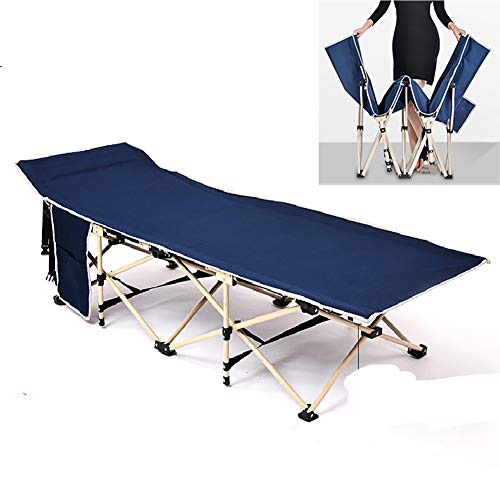 ZDYLM-Y Folding Patio Loungers, Outdoor Folding Adjustable Recliner w/Carry Bag, Double Layer Oxford Sleeping Cots, for Garden Patio Beach