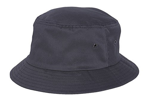 Twill Bucket Hat (Various Size and Color), Black - Small