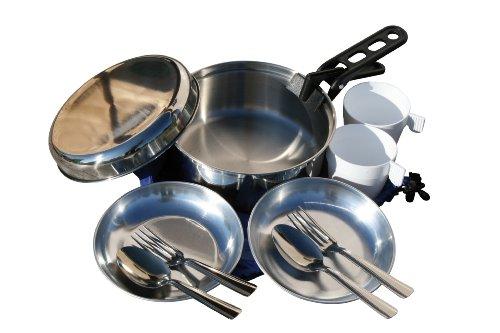 Cao 975 Set de cocina para acampada para 1 persona, talla 1,2 L