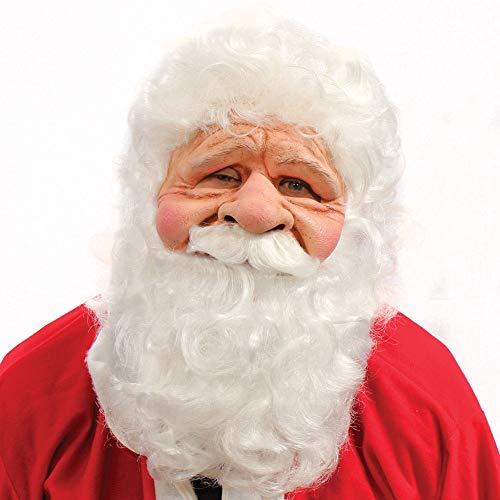 Zagone Studios - Máscara de Papá Noel con barba blanca