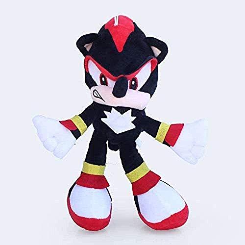 N-R Sonic Actionfiguren 1 Stück Sonic Plüschtierpuppe 30 cm Sonic The Hedgehog & Black Shadow The Hedgehog Plüsch Gefülltes Spielzeug für Kinder Kinder