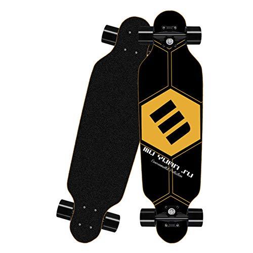 LYXQQ Erwachsene Profis Skateboard, Mit ABEC-7 Kugellager, Drop-Through Longboard Ahornholz Board, Belastung 150KG, 80 * 20Cm,C