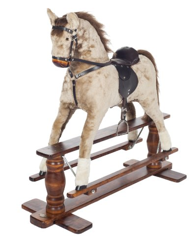 MJmark STRAWBERRY ROAN LUXURIOUS VERY LARGE Rocking Horse SATURN PINTO from