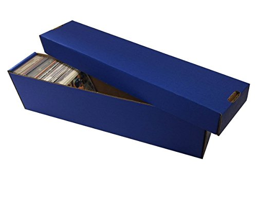 (10) BLUE 800 Count 2 Piece Box - Premium Vertical Storage Box - Baseball, Football, Basketball, Hockey, Nascar, Sportscards, Gaming & Trading Cards - By Max Pro Collecting Supplies image