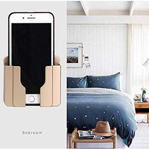 2pcs Soporte Móvil Pared Soporte para Celulares y Tablets Montado en Pared para Cargar Autoadhesivo Soporte Móvil Soporte de Pared Universal para teléfono móvil (dorado)