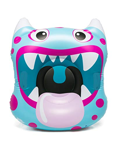 BigMouth Inc. Monster Mouth Snow Tube – 3.5 ft. Wide Inflatable Snow Tube with Easy Grip Handles, Made of Durable Vinyl with Welded Seams – Makes a Great Gift, Multi Colour