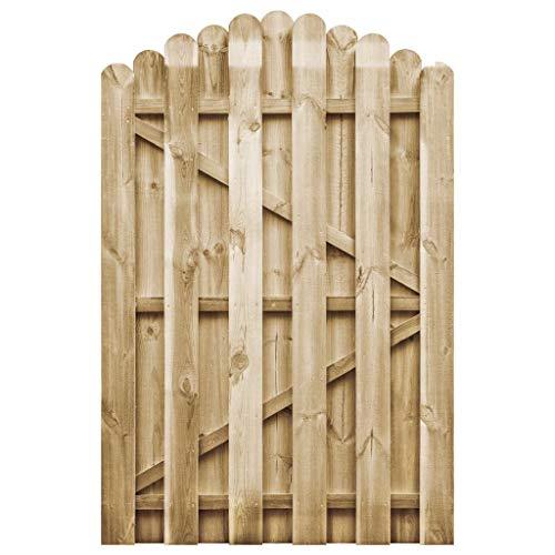vidaXL Kiefer Imprägniert Gartentor 100x150cm Holztor Zauntor Lattenzaun Tor
