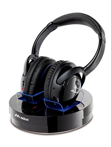 Meliconi HP 300 Professional - Cuffie Stereo Wireless con base di ricarica