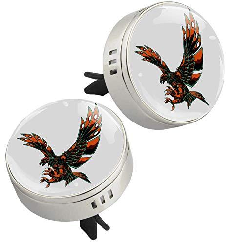 Z&Q Auto Diffuser Luftbefeuchter für Fliegender Adler mit Flügeln Auto Lufterfrischer zum Nachfüllen Kommt mit 4 PE zusätzlichen Pads öl Diffusor 33.8mmX46.4mm
