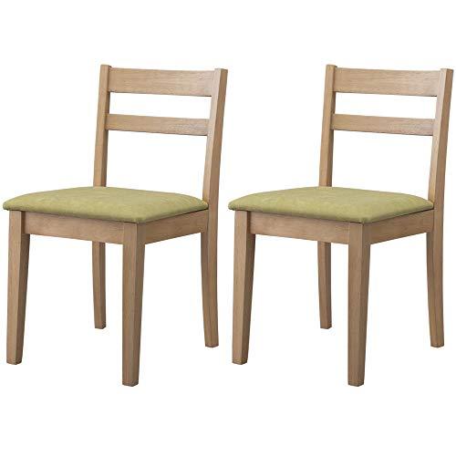 【2脚セット】アイリスプラザ チェア ダイニングチェア 椅子 木製 インテリア DCS-430 オークグリーン 41×49.5×75cm