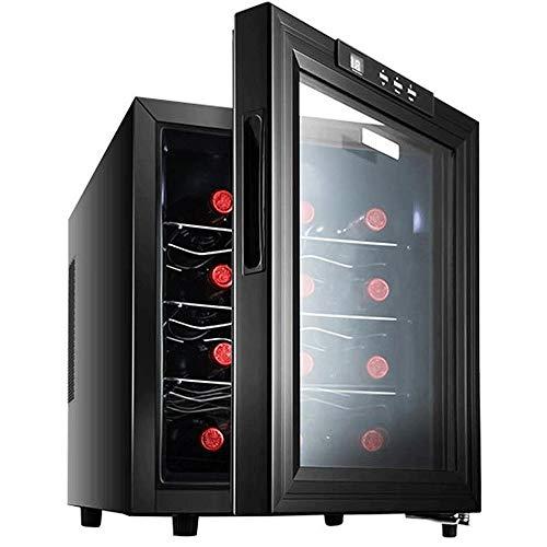 JJSFJH Haushalt Cooler Aufsatz- Wein Cella Gefrierschrank, Kühlschrank freistehend Glastür Armer Betrieb Kühlschrank