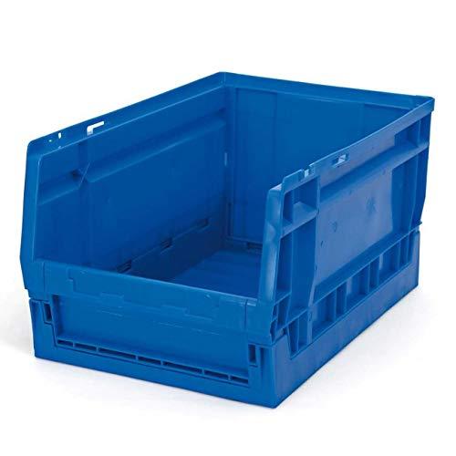 Vaschetta pieghevole 600 x 400 x 325 mm, colore: blu