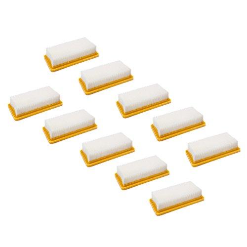 vhbw set di 10x filtro a pieghe piatte sostituisce Kärcher 6.415-953.0 per aspirapolvere a umido e a secco - Elemento filtrante