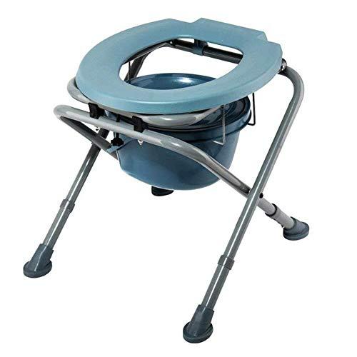 Chaises percées Camping en Plein air Tabouret Portable 3 fichiers Hauteur Ajustable Cuvette Convient for Les Personnes âgées et Les Femmes Enceintes