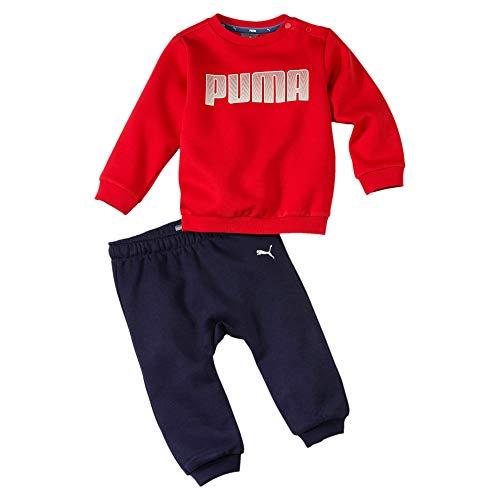 PUMA Sweatanzüge Jungen Infant Jog Suit Boys Sweatsuit Minicats Fleece Babies Top Pant Set Navy/Red 580305 11 (86)
