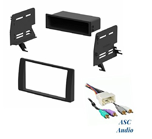 ASC Audio Car Stereo Dash Kit and Wire Harness for Installing an Aftermarket Radio for some 2002 2003 2004 2005 2006 Toyota Camry with Factory Premium Amp - No Factory Navigation