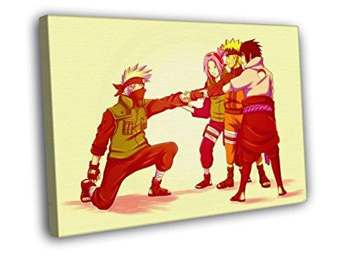 H4V6109 Naruto Team 7 Sasuke Sakura Kakashi Anime Manga Art 40x30 FRAMED CANVAS PRINT