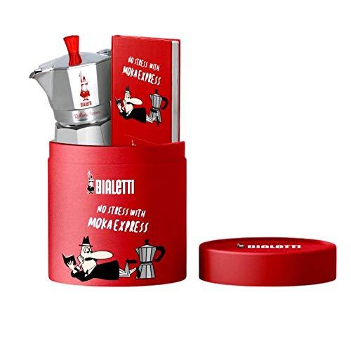 Bialetti Moka Express Lovers Diary Geschenkbox, 3 Tassen, Rot