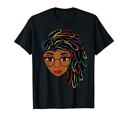 Natural Hair Strong Black Women Beautiful Afro Gift Female T-Shirt