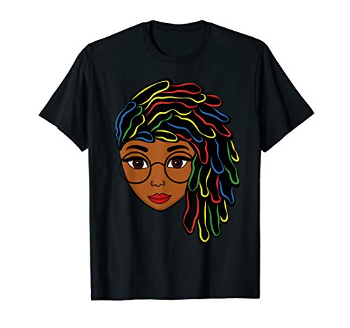 Natural Hair Strong Black Women Beautiful Afro Gift Female T-Shirt