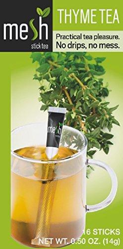 MESH Thymian Tee 16 Sticks - Tee genießen leicht gemacht - Kein Beutel, Kein Tropfen, Kein Löffel - Einfach in der Handhabung, natürlich im Geschmack!